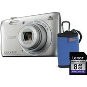 Nikon COOLPIX S3700 kit argento