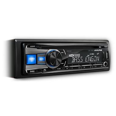 Alpine CDE-182R 200W Nero, Blu autoradio