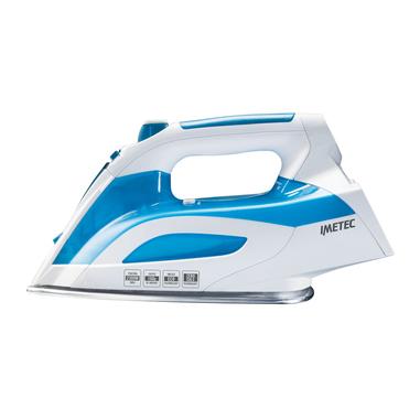 Imetec Intellivapor K3 Ferro da stiro a secco e a vapore Acciaio inossidabile 2300W Blu, Bianco