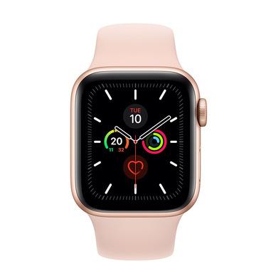 Apple Watch Series 5 GPS, 40mm in alluminio oro con cinturino Sport Rosa sabbia
