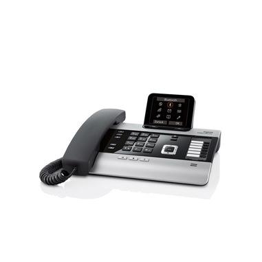 Gigaset DX800A Telefono DECT Nero, Argento