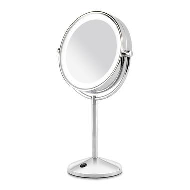 BaByliss 9436E specchietto per trucco Libera installazione Rotondo Acciaio inossidabile