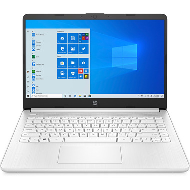"""HP 14s-fq0023nl Computer portatile Bianco 35,6 cm (14"""") 1366 x 768 Pixel AMD Athlon 4 GB DDR4-SDRAM 64 GB eMMC Wi-Fi 5 (802.11ac) Windows 10 Home S"""