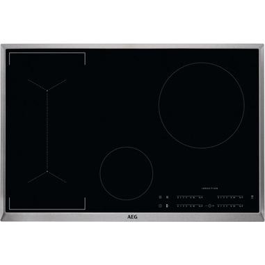 AEG IKB84443XB piano cottura Nero, Acciaio inossidabile Da incasso A induzione 4 Fornello(i)