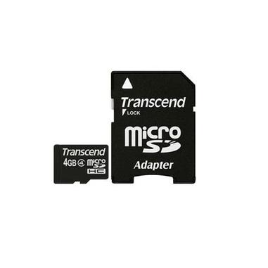 Transcend 4 GB microSDHC 4GB MicroSDHC Classe 4 memoria flash