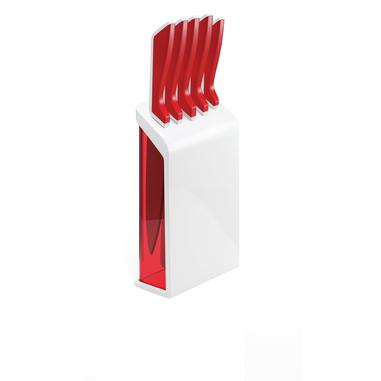 Fratelli Guzzini 16880055 5pezzo(i) Set di coltelli/coltelleria con ceppo posata da cucina e set di coltelli