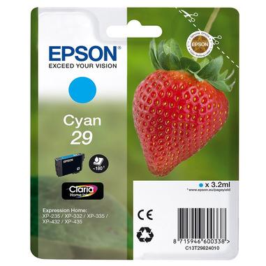 Epson Strawberry 29 C cartuccia d'inchiostro 1 pz Originale Resa standard Ciano