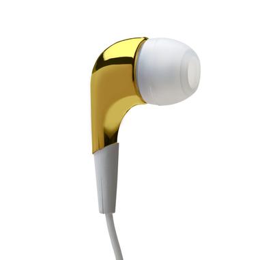 MySound Speak MIRROR Auricolare Stereofonico Cablato Oro, Bianco auricolare per telefono cellulare