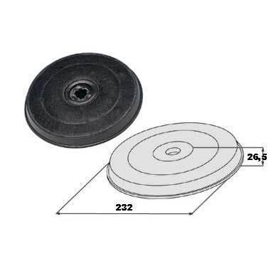 Faber filtro carbone attivo H20 cm per cappe