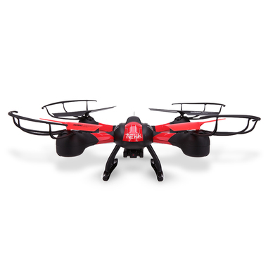 TEKK HAWKEYE 4rotors 350mAh Nero, Rosso drone fotocamera
