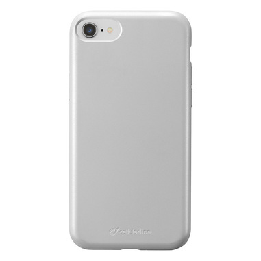 Cellularline Sensation - iPhone 8/7/6 Custodia in silicone soft touch Argento