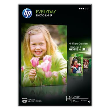 HP Q2510A carta fotografica Nero, Blu, Bianco A4