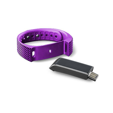 Cellularline Easyfit Touch Wristband activity tracker Senza fili IP67 Nero, Porpora