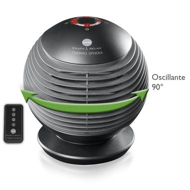 Macom Thermo Sphera termoventilatore ceramico e oscillante Interno Nero 2000 W