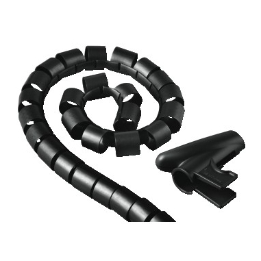 Hama Cable Bundle Tube Easy Cover, 1.5 m, 30 mm, black