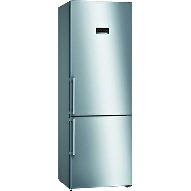 Bosch Serie 4 KGN49XIDP frigorifero con congelatore Libera installazione 438 L D Acciaio inossidabile