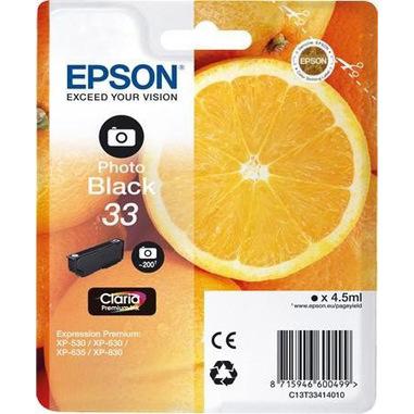Epson Oranges 33 PHBK cartuccia d'inchiostro 1 pz Originale Resa standard Nero per foto