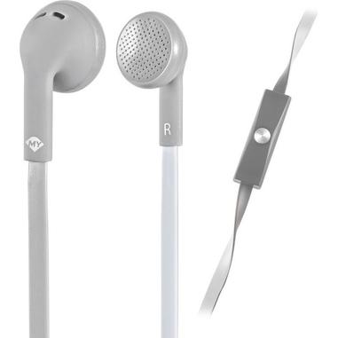 MySound Auricolare on ear mic. Speak flat, bianco-grigio