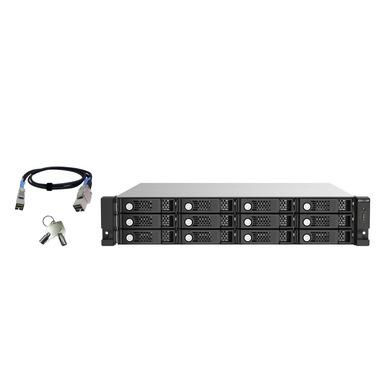 """QNAP TL-R1220Sep-RP Enclosure HDD/SSD Nero, Grigio 2.5/3.5"""""""