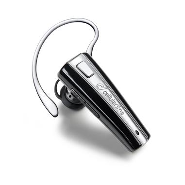 Cellularline Essential Headsets - Universale Auricolare Bluetooth mono leggero e colorato Nero