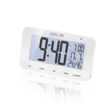 Explore Scientific RDC1004WHT sveglia Sveglia digitale Bianco