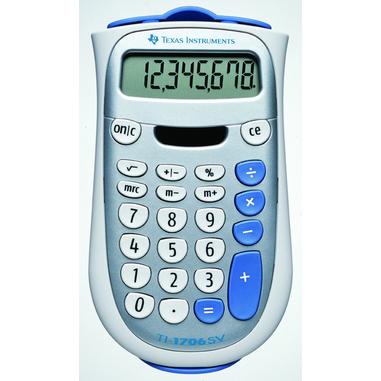 Texas Instruments TI-1706 SV calcolatrice di base Argento, Bianco