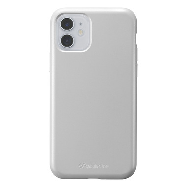 Cellularline Sensation - iPhone 11 Custodia in silicone soft touch Argento