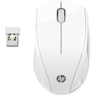 HP Mouse wireless X3000 Bianco neve