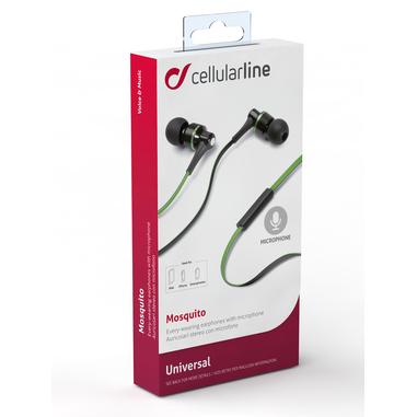 Cellularline Mosquito - Universale Auricolari in-ear leggeri dal suono pulito Verde
