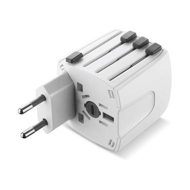 Cellularline World Travel Adapter - Universal Adattatore universale per prese di tutto il mondo Bianco