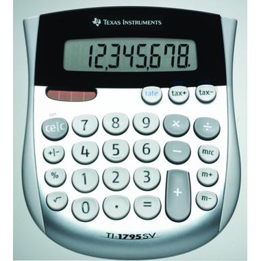 Texas Instruments TI-1795 SV Nero, Argento, Bianco calcolatrice