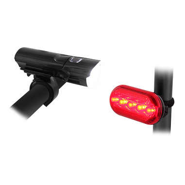 T'nB UMLED2 illuminazione bicicletta Illuminazione posteriore + Illuminazione anteriore (set) LED