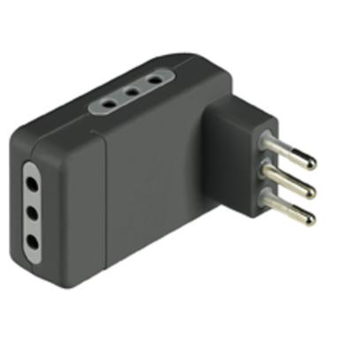 bticino S3605GE adattatore per presa di corrente Nero