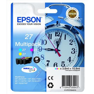 Epson Alarm clock 27 DURABrite Ultra Multi-pack cartuccia d'inchiostro 1 pz Originale Ciano, Magenta, Giallo
