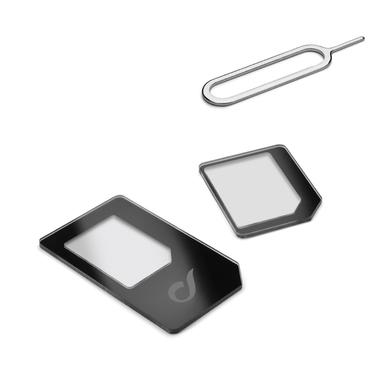 Cellularline Nano Sim Adapters Kit Da Nano SIM a SIM e Micro SIM Nero