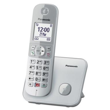 Panasonic KX-TG6851JTS telefono Telefono DECT Identificatore di chiamata Argento