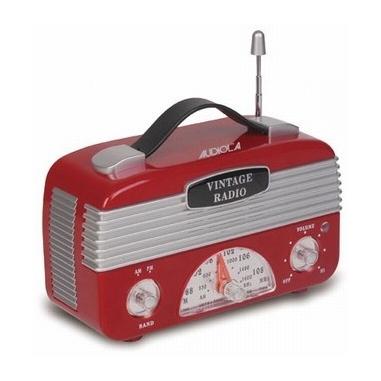 Audiola RTB-2035 Portatile Analogico Nero, Rosso radio