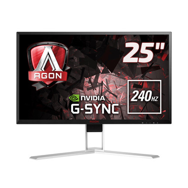 "AOC Gaming AG251FG monitor piatto per PC 62,2 cm (24.5"") 1920 x 1080 Pixel Full HD LED Nero, Rosso"