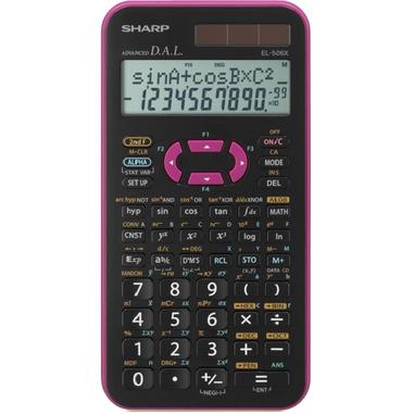 Sharp EL-506X calcolatrice Tasca Calcolatrice scientifica Nero, Rosa
