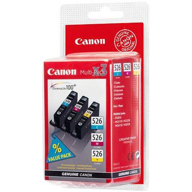 Canon CLI-526 C/M/Y cartuccia d'inchiostro 3 pz Originale Ciano, Magenta, Giallo