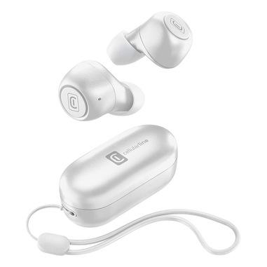 Cellularline PICK Auricolari Bluetooth in-ear con carica batteria portatile Bianco