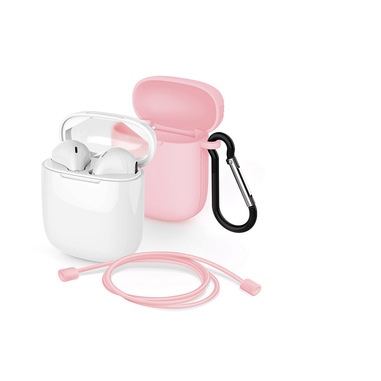 Meliconi MySound SAFE PODS 5.1 + Pink Cover Cuffia Auricolare Bluetooth Bianco