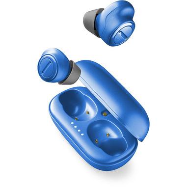 Cellularline Plume - Universale Auricolari in-ear True Wireless con charging case Blu