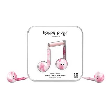 Happy Plugs Earbud Plus Auricolare Rosa marmo