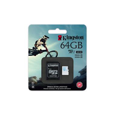 Kingston Technology microSD Action Camera UHS-I U3 64GB 64GB MicroSDXC UHS-I Classe 3 memoria flash