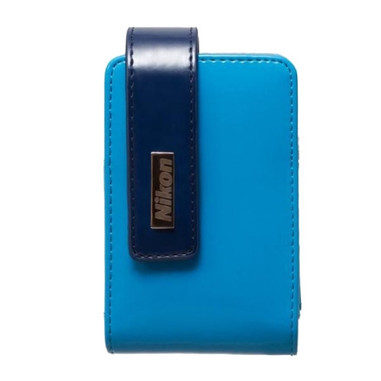 Nikon CS-S30 custodia in pelle per fotocamere Coolpix, blu