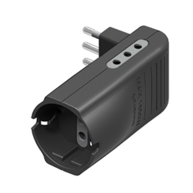 bticino S3615GE adattatore per presa di corrente Tipo L (IT) Antracite