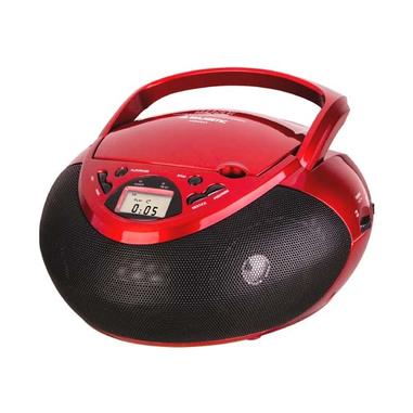 New Majestic AH-1266 AX Analogico 2W Nero, Rosso radio CD