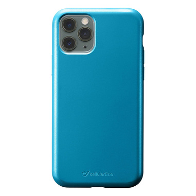 Cellularline Sensation - iPhone 11 Pro Custodia in silicone soft touch Petrolio