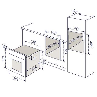 Electrolux ROB 2210 AOX forno